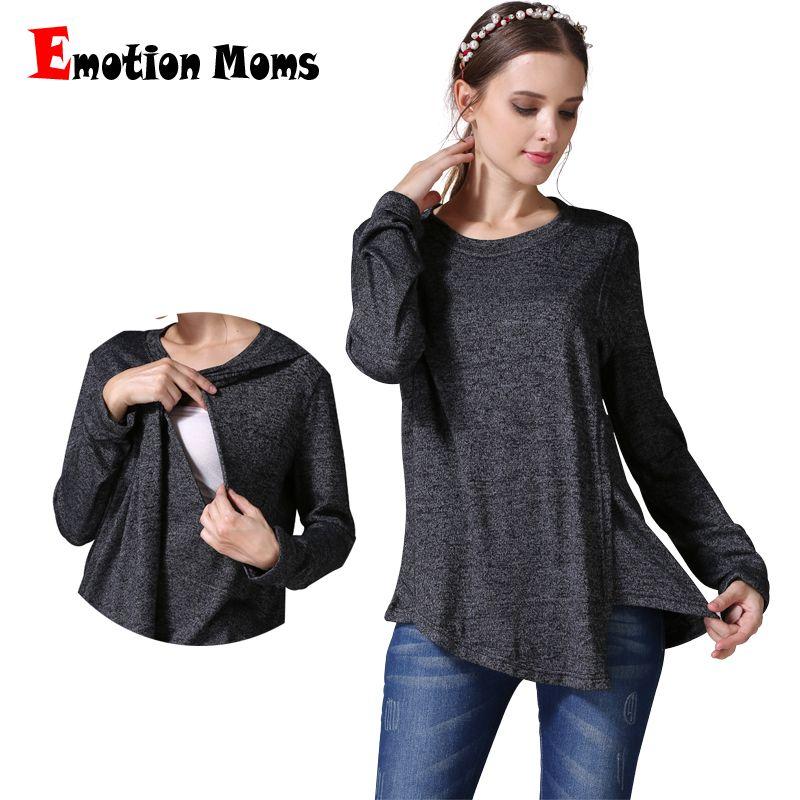 89340ed8d467d Emotion Moms Winter Autumn Maternity Clothes Long Sleeve Maternity T ...