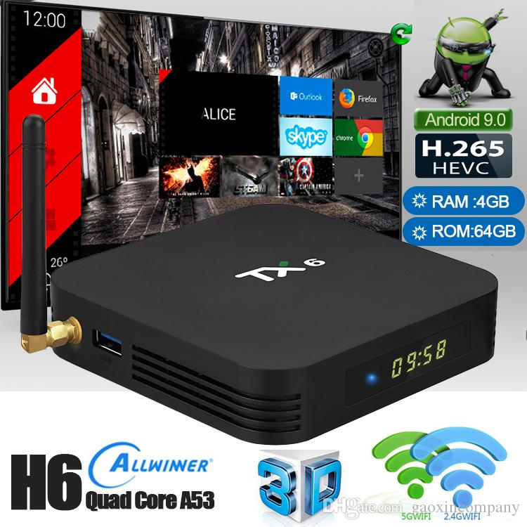 Android TX6 4GB 64GB Android 9 0 TV BOX Smart Media Player 4K HDMI Support  Bluetooth WiFi