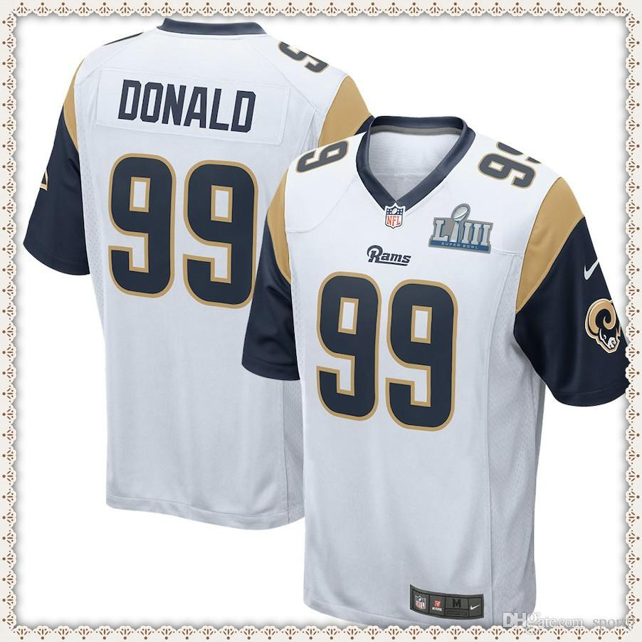1363a234b24 2019 2019 Pro Super Bowl LIII Todd Gurley Jersey Jared Goff Los Angeles  Aaron Donald Rams Custom Vapor Untouchable Champion Football Jerseys Game  From ...