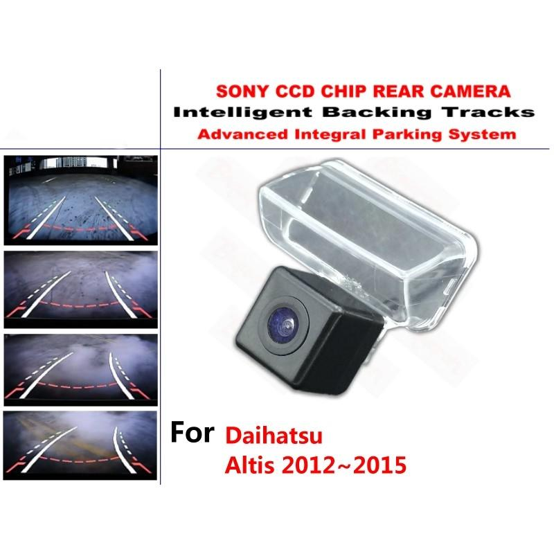 for Daihatsu Altis 2012~2015 HD CCD Intelligent Dynamic Trajectory Rear View Reverse Backup Tracks Camera Night Vision car
