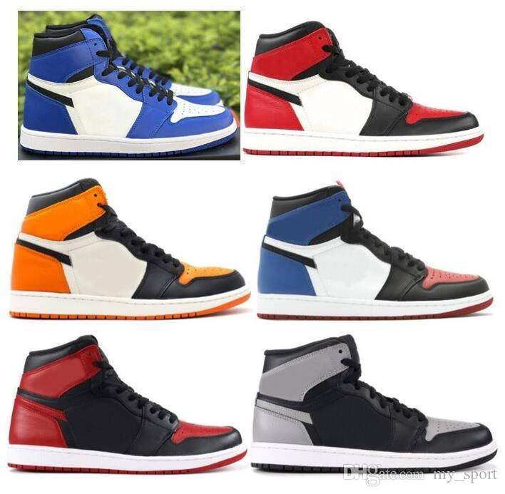 53445b1efc5d 2019 New 1 High OG Game Royal Banned Shadow Bred Toe Basketball Shoes Men  1s Shattered Backboard Silver Medal Sneakers High Quality Women Basketball  Shoes ...