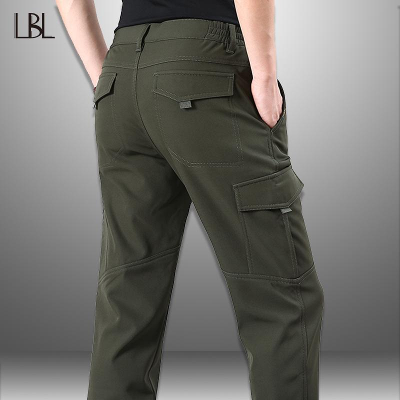 dc355286ce238 2019 LBL Casual Long Cargo Pants Men 2019 Winter Autumn Thincken Fleece  Hiking Trousers Male Multi Pockets Full Length Tactical Pant From Ziron, ...