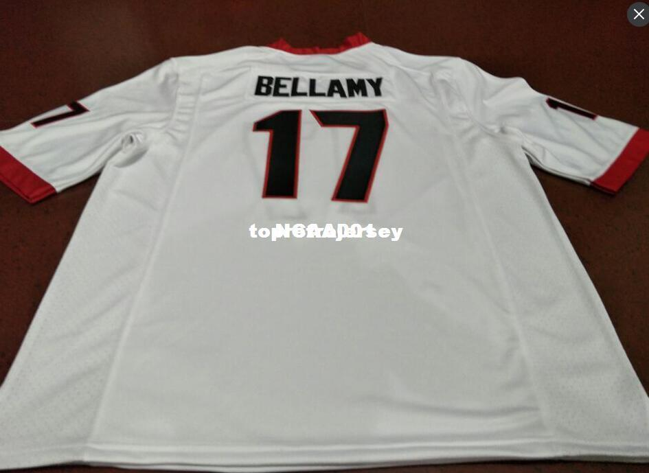Cheap Men #17 Davin Bellamy Georgia Bulldogs Top high quality red black white College Jersey or custom any name or number jersey Ncaa