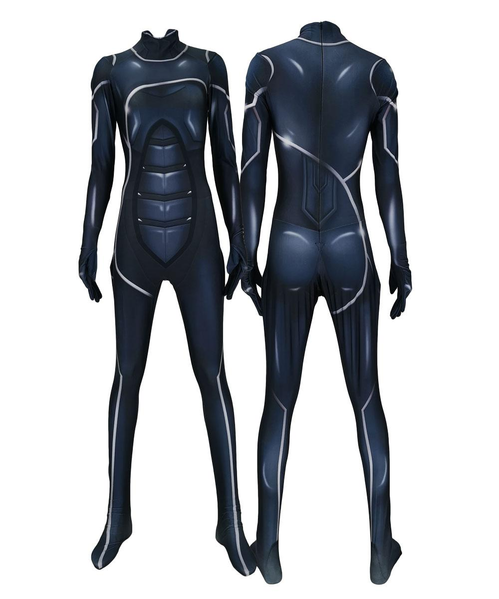 bf595a34b78 Black Cat Suit The Heist Version Costume Black Cat Jumpsuits Festival  Bodysuit Halloween Costumes For Men Adult/Kids Family Group Halloween Costumes  Movie ...