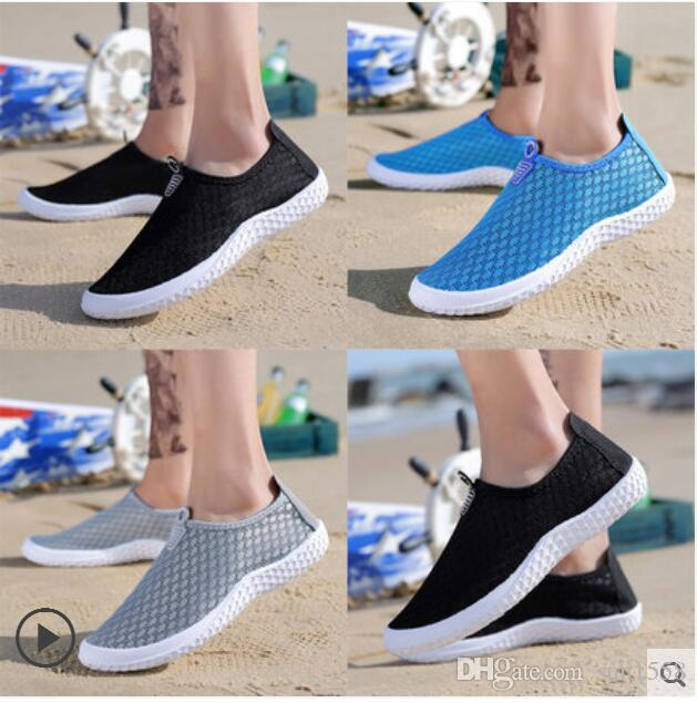 2019 The new summer fashion casual men s breathable shoes, European and American style breathable mesh shoes
