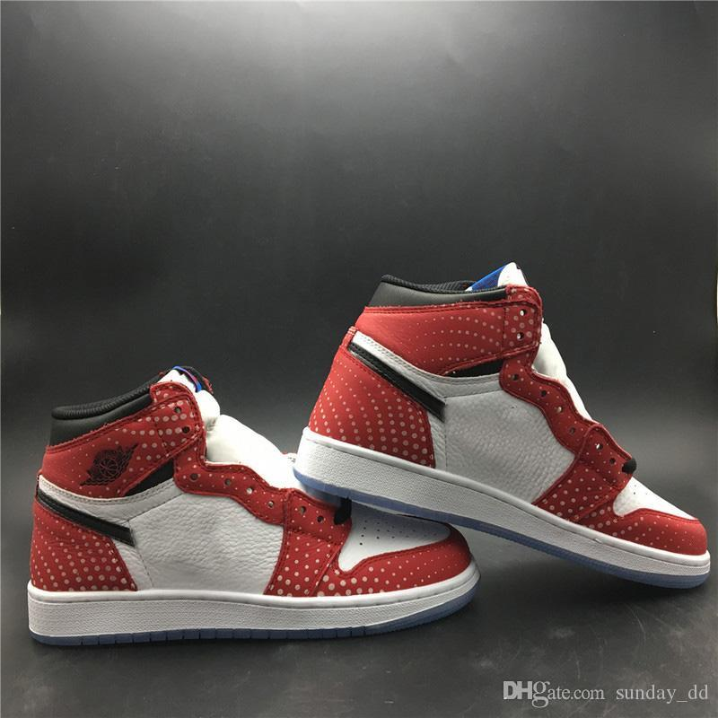 7d2863803fe7ae Newest Release Authentic 1 High OG Chicago Crystal Men Basketball Shoes Gym  Red Spider Blue Red White 1S Man Sports Sneakers 555088 602 Box UK 2019 From  ...