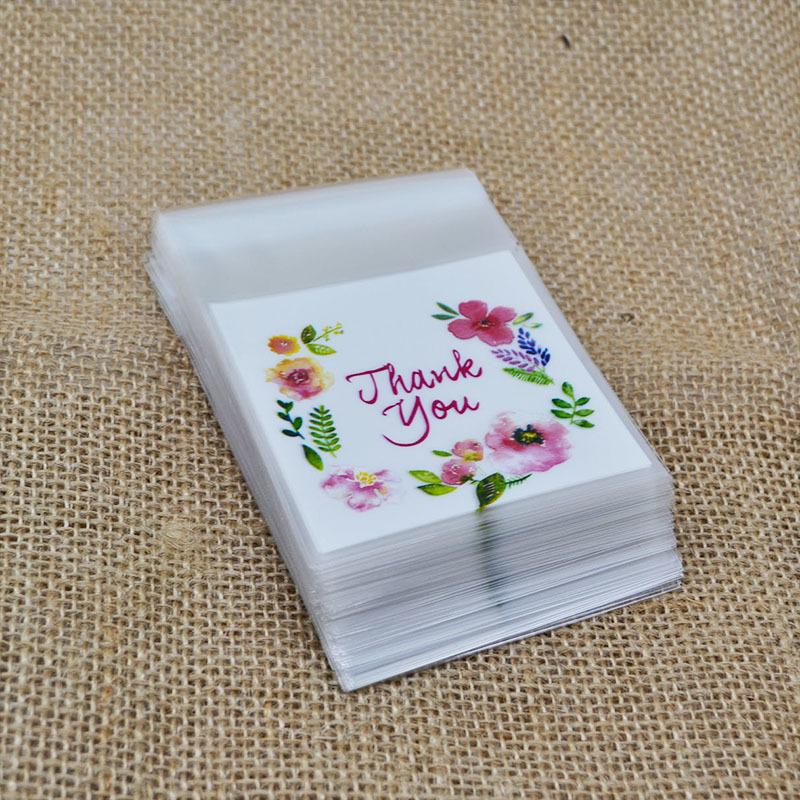 50/100 pcs/lot Write Thank You Plastic Transparent Cellophane Baking Candy Cookie Gift Bag For Wedding Birthday Party Favors 8z C18112701