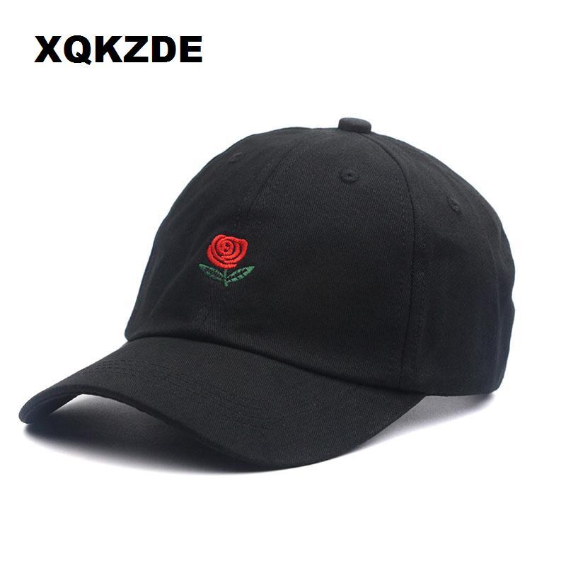 ccff7b03 2018 Cotton Rose Embroidery Caps Black Snapback Dad Designer Men Women  Visor Skateboard Hats CF14 C19012101