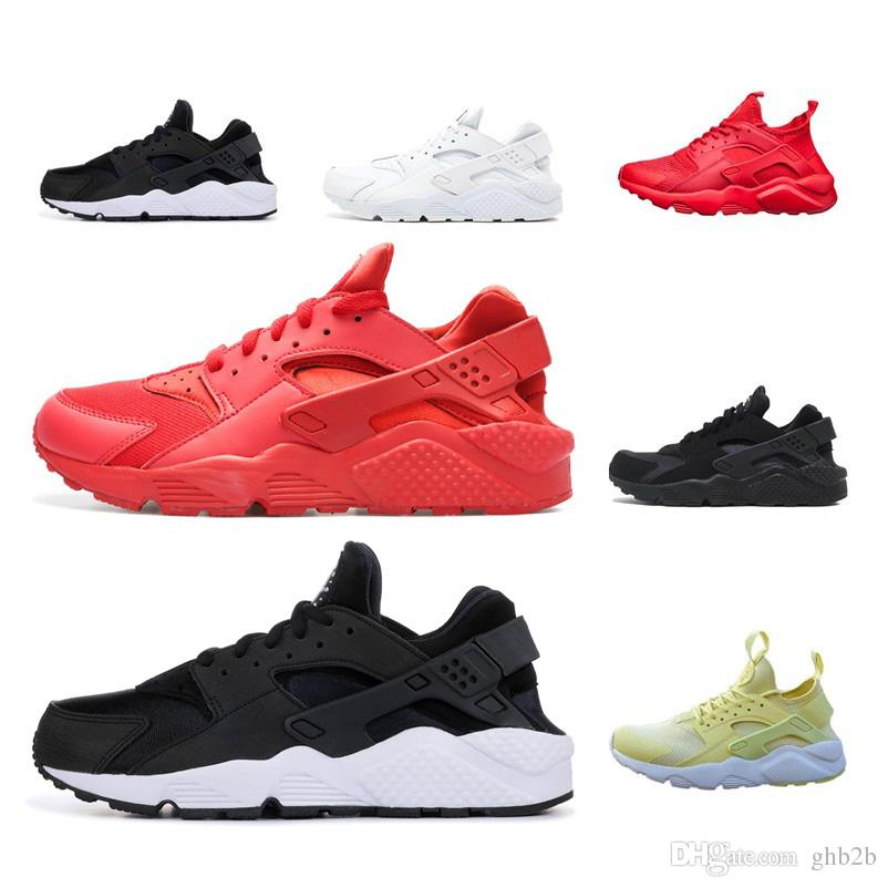 d47b6e00a4a 2019 Huarache 1.0 4.0 Run Ultra SE IV Men Running Shoes Trainer Triple  Black Red Pink Lightweight Athletic Sport Outdoor Sneakers 36 45 From  Ghb2b