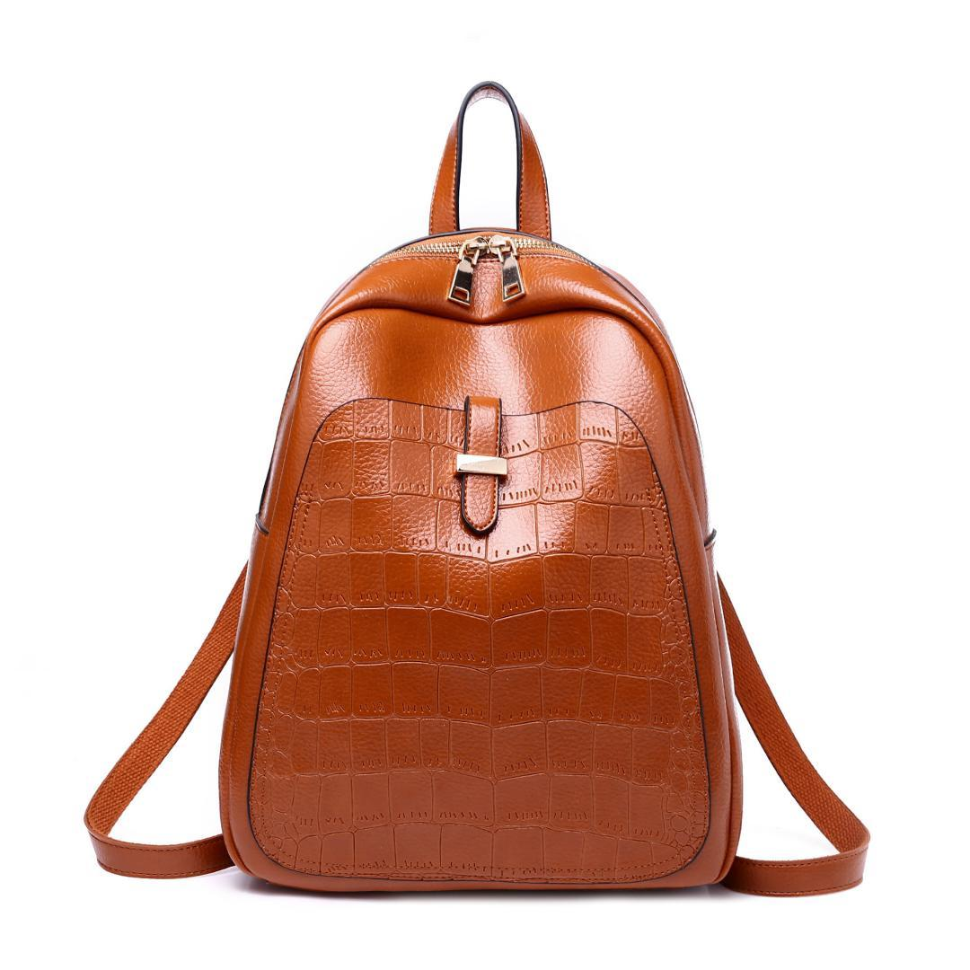 723c068c98 Fashion Women Backpack Women S PU Leather Backpacks Girl School Bag Backpack  High Quality Vintage Shoulder Bags Travel Bolsa Best Laptop Backpack  Wheeled ...