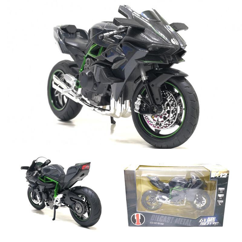 2019 112 Scale Kawasaki Ninja H2 H2r Diecast Sportbike Track Racing