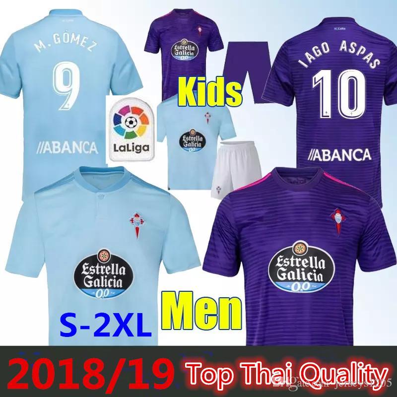 Compre Camisa De Futebol Celta 2018 19 Iago Aspas Home Camisa De Futebol  Celta De Vigo M. Gomez Sisto Camisolas De Jogador Crianças Kits Camiseta  Uniformes ... 5bac687331de3