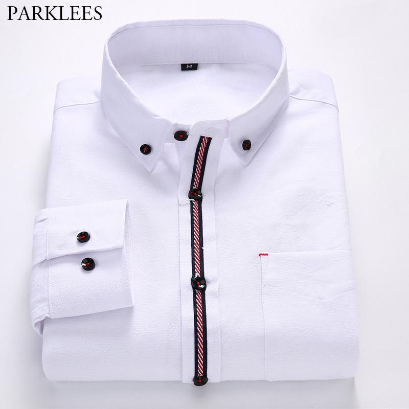 1d02dda5f Compre Camisa De Algodón Oxford Para Hombre