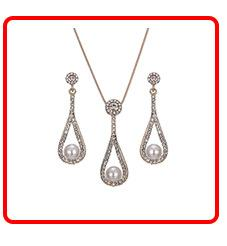 New Popular Bridal Jewelry Sets Gold color Earrings Necklace Set Rhinestone Jewelry For Wedding Dress Accessories Shipping 2017