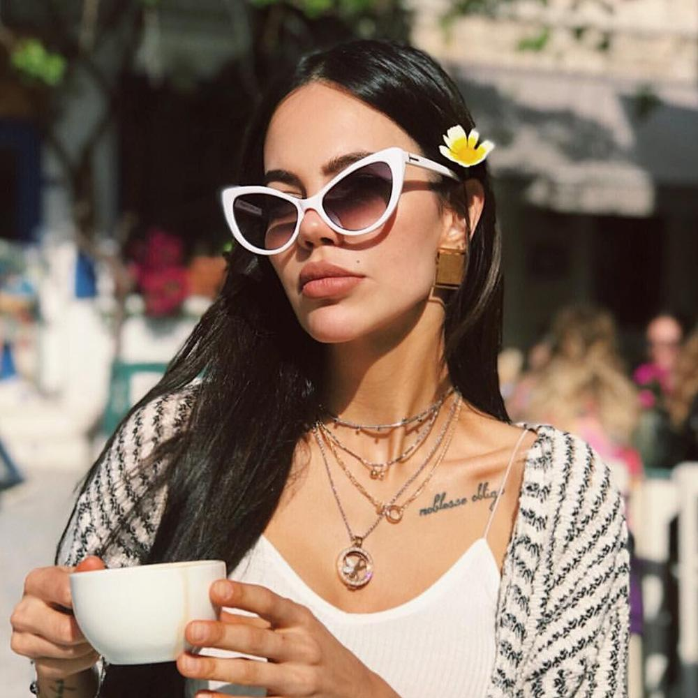 Butterfly Style Summer Sunglasses For Women Ins Fashion Oversize Sunglasses  Designer  Vintage Sun glasses Big Frame