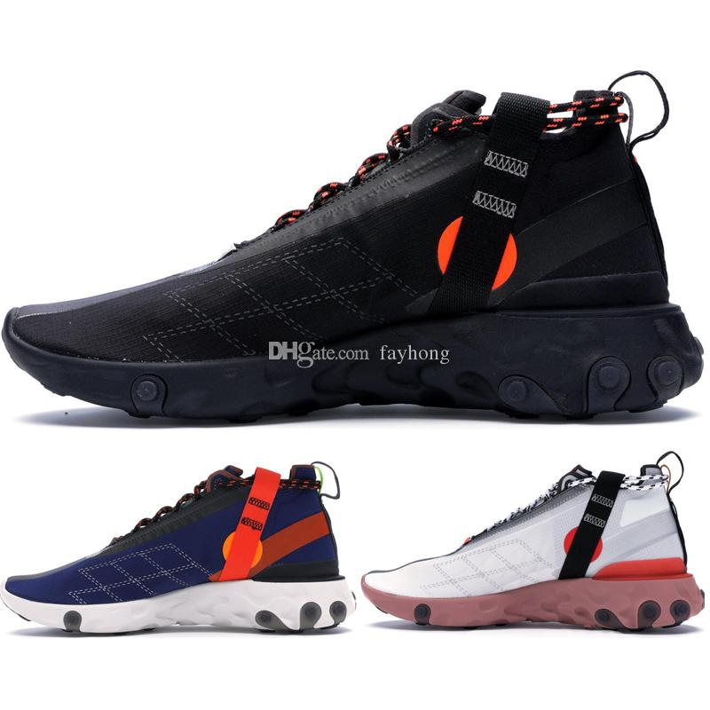 best sneakers 8497a 536aa React Runner Mid WR ISPA Men Running Shoes For Women Designer Sneakers  Sports Mens Trainer Shoes Black AT3143 001 White Light Crimson Blue Shoes  Running ...