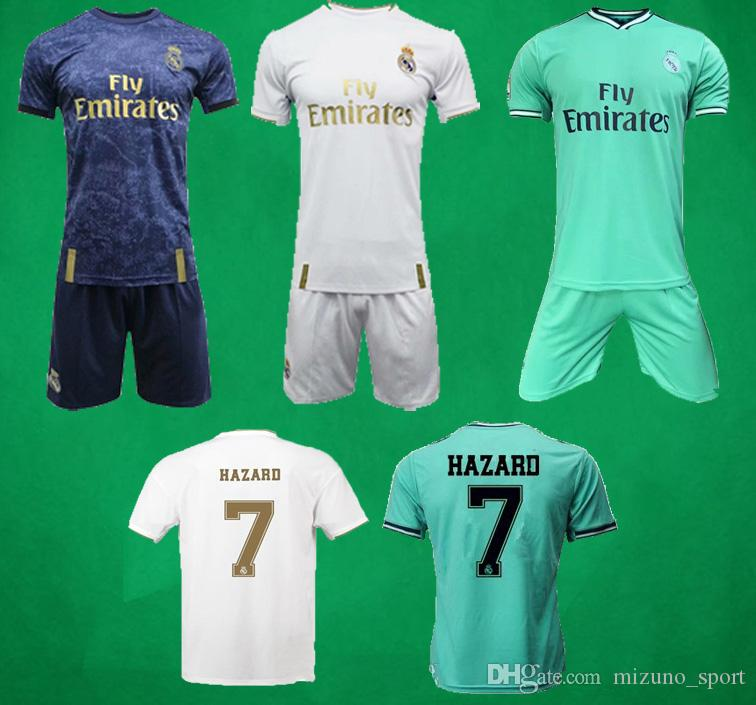 19 20 Real Madrid Domicile Extérieur Football Jersey Shorts 2019 2020ASENSIO RISQUE kroos Kits Football CITP Camiseta De Fútbol Football Shirt