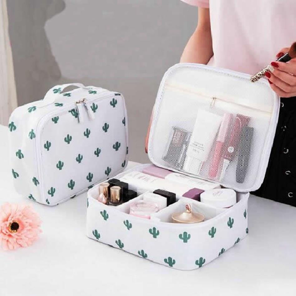 Animal Flamingo Cosmetic Bag Women Travel Function Makeup Bag Zipper ... 5192cddc483c6