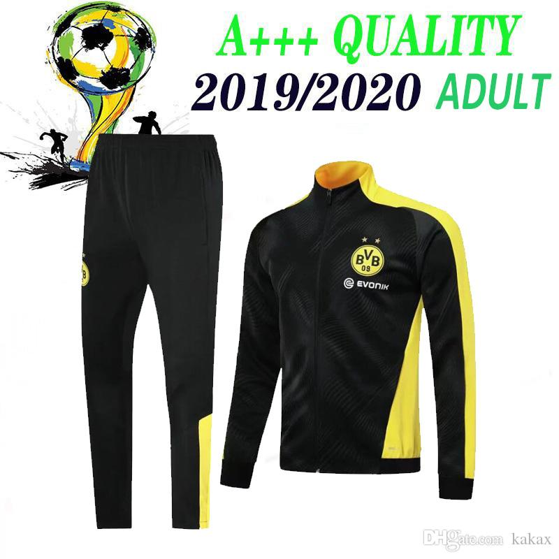 2019 2020 Borussia Dortmund tracksuit Jacket Set 19 20 long sleeve Training suit Borussia Dortmund football clothes sports wear