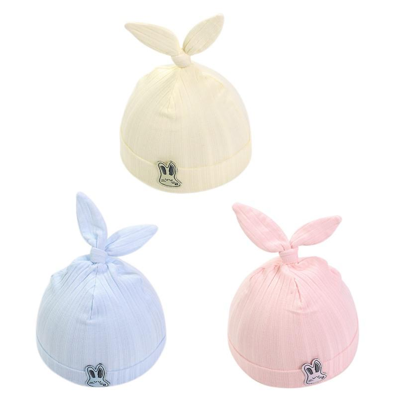 0a9ef8a6a Baby Unisex Hats 0-3 Month Lovely Baby Girl Boys Rabbit Ear Elastic Hats  Turban Cap Cute Soft Cotton Infant Hair Accessories