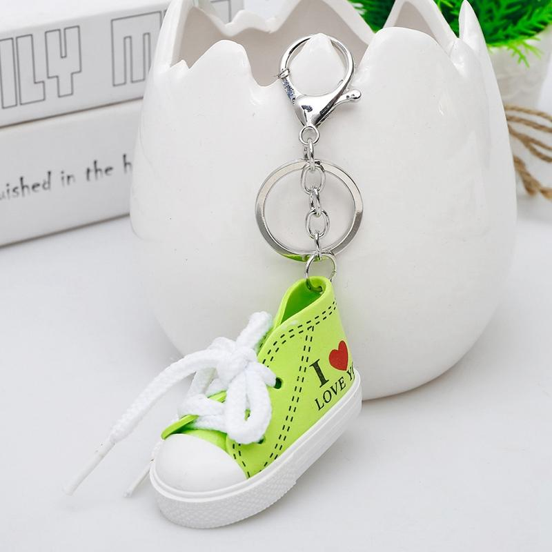 Mini Hip Hop I Love You Canvas Sports Shoe Keychain Women Blue Pink Red  Green Sports Shoes Keyring Doll Funny Boys Gilrs Gifts Picture Keychains  Make Your ... df2f670ab7