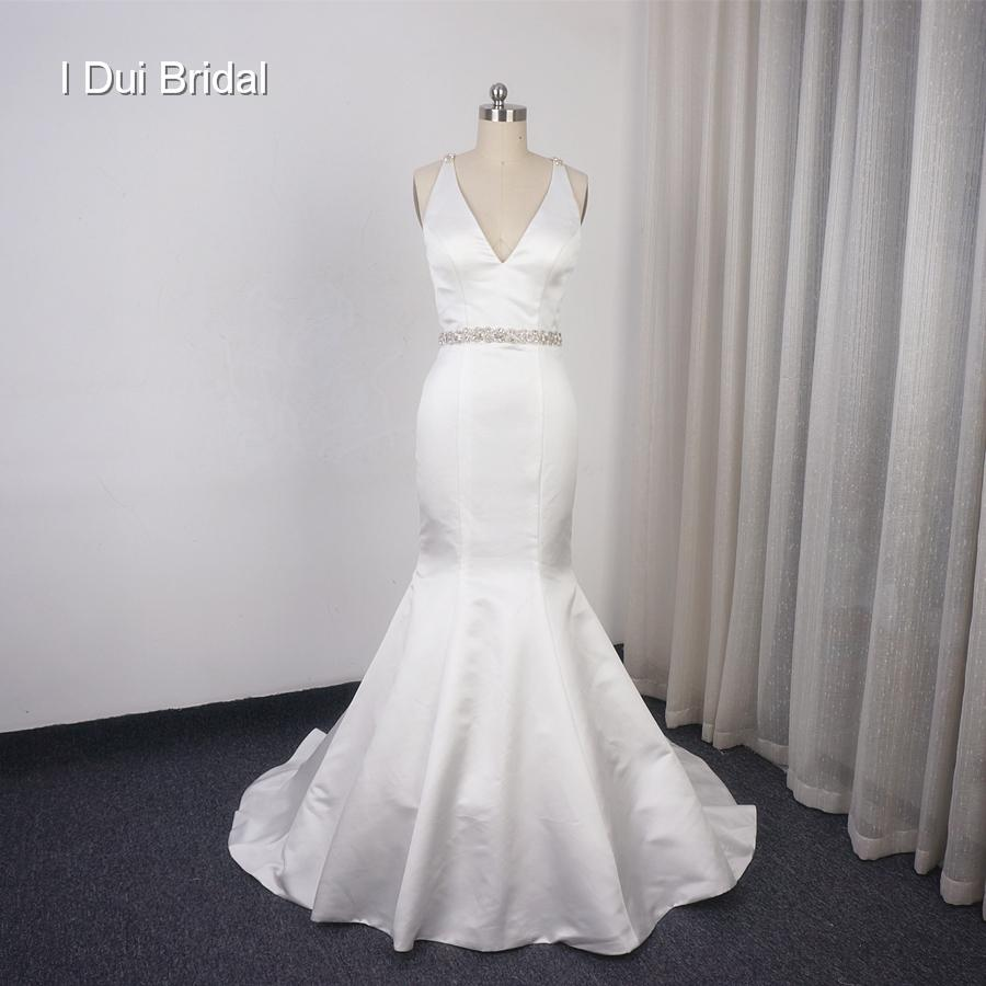 640746bccf4 Satin Wedding Dress Beaded Back - Data Dynamic AG