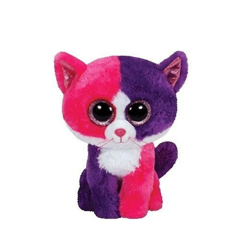 "Ty Beanie Boos 6"" 15cm Cat Plush Regular Big-Eyed Stuffed Animal Collection Doll Toys For Children Juguetes Brinquedos"
