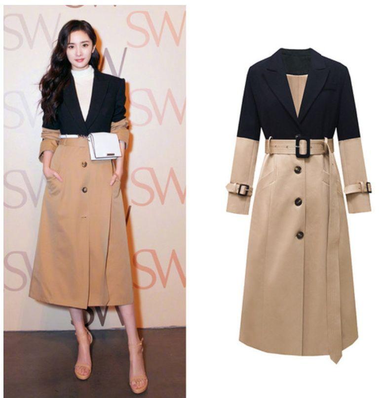 Ветровка Для женщин Топы и блузки Длинные пальто женщин пальто для женщин срощенной High Street женщин пальто