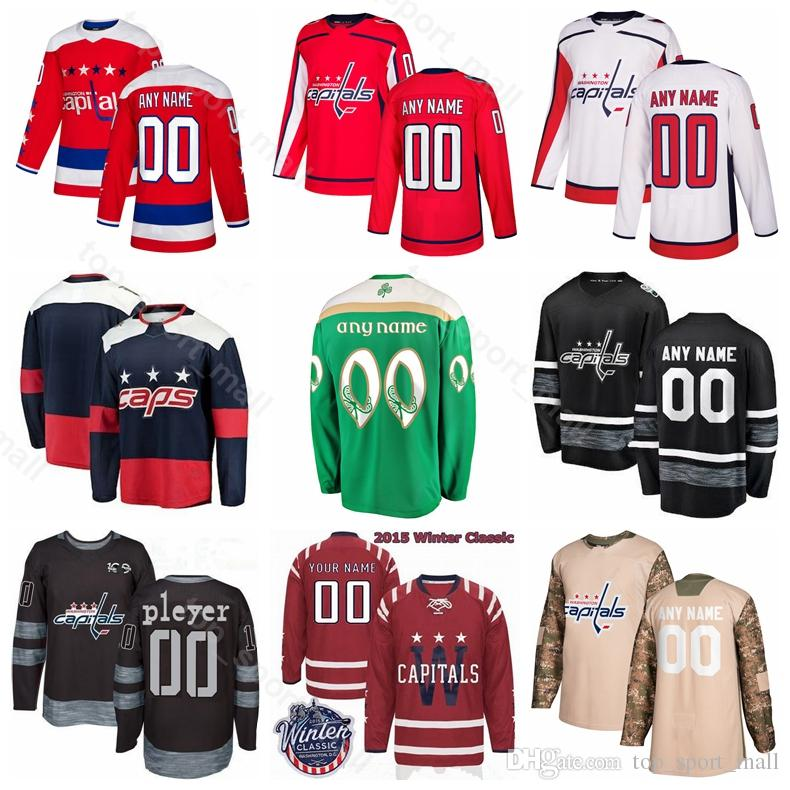 outlet store 94d5b aef6a Washington Capitals Ice Hockey Tom Wilson Jersey Alex Ovechkin Nicklas  Backstrom Braden Holtby TJ Oshie Evgeny Kuznetsov Winter Classic
