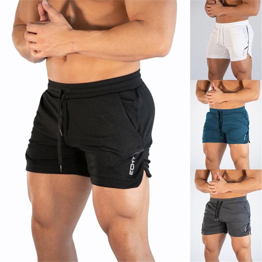 57ba5f197a 2019 Men Fitness Bodybuilding Shorts Uomo Estate Palestre Allenamento  Maschile Mesh traspirante Quick Dry Sportswear Jogger Beach Short Pants