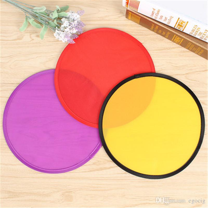 Flying Disc With Pouches Polyester Foldable Blank Frisbee Outdoor Sports Toys for Family Commercial Giveaways Toys Folding Flying Disc