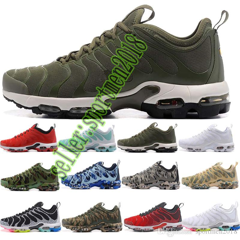 e94e282d44ce Acheter Nike Air Max Airmax 2019 Nouvelle Arrivée Vente Chaude De Haute  Qualité TN Rainbow Camouflage Chaussures De Course Pour Hommes Chaussures  Baskets ...