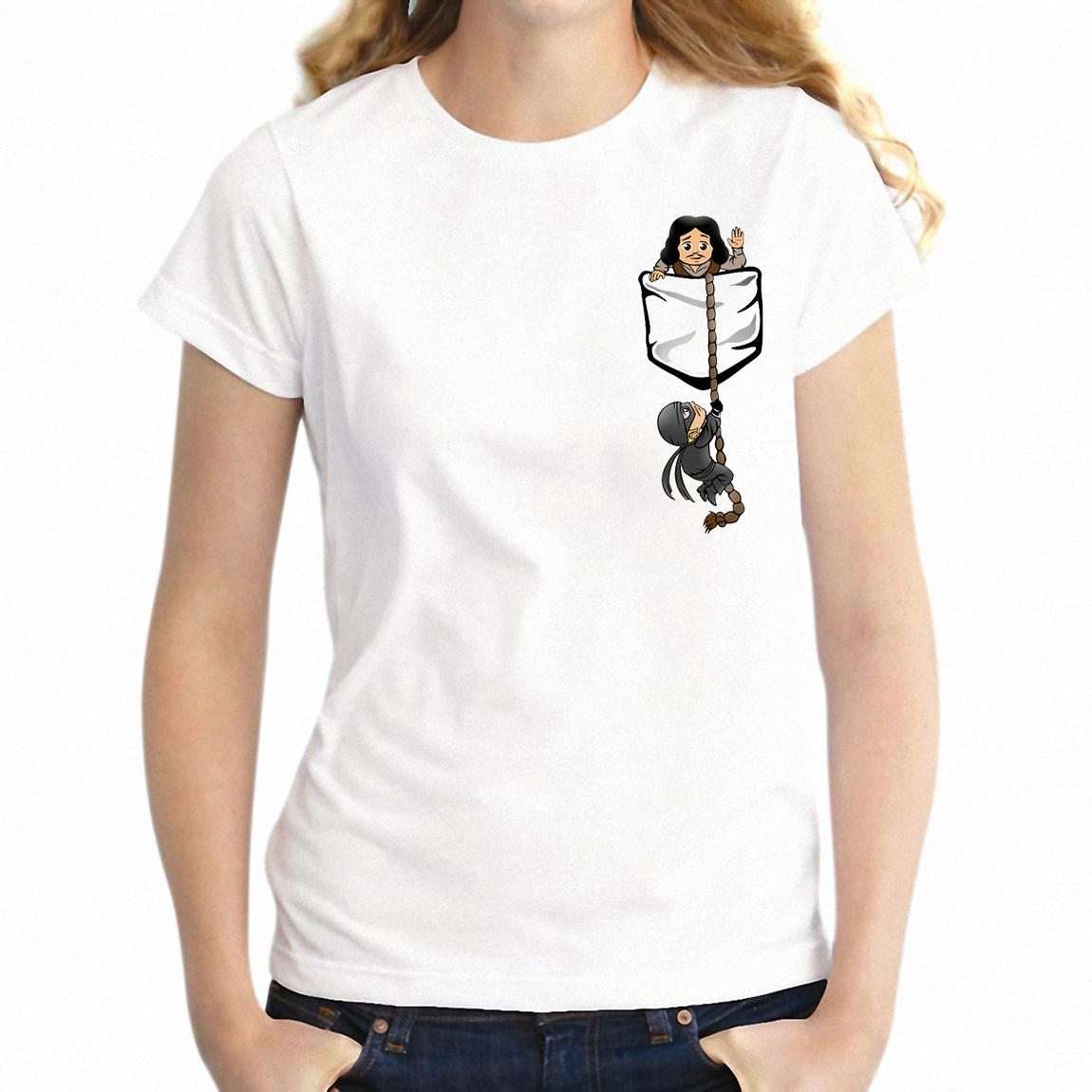 Camiseta de mujer Princess Bride Pocket Shirt Funny Girl's Tee