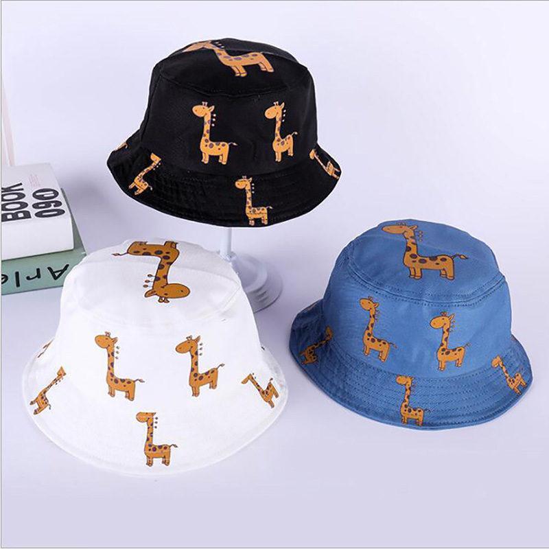 meilleure qualité enfant choisir officiel Mode populaire nouvelle mode japonais garçons filles Casual bande dessinée  belle girafe seau chapeaux été panama chapeau de pêcheur