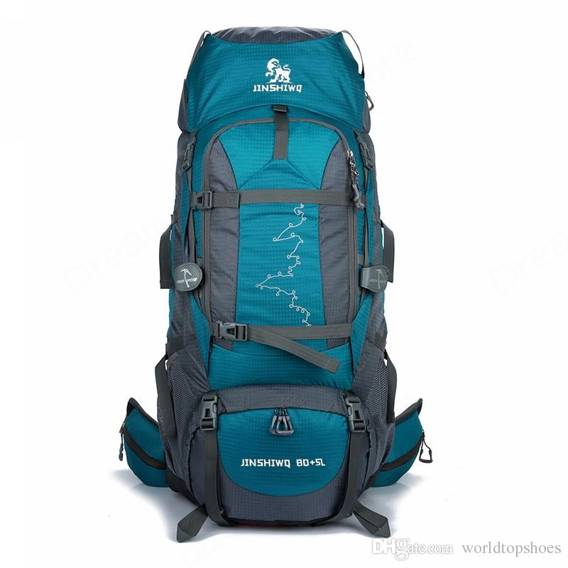 d21ab83f60 2019 85L Large Outdoor Backpack Waterproof Travel Bags Camping Hiking  WomenClimbing Backpacks Rucksack Men Sport Bag  108588 From Worldtopshoes