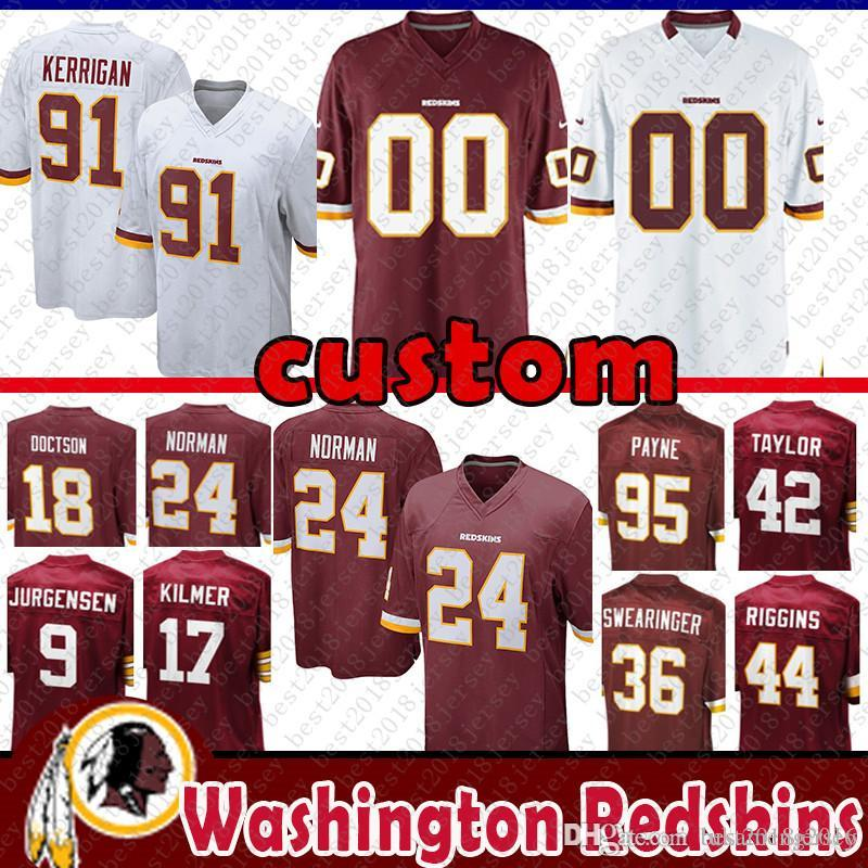 86b0cecb8b4 2018 Custom Jersey Washington Redskins 9 Sonny Jurgensen 18 Josh Doctson 17  Billy Kilmer 95 Da'Ron Payne 36 Swearinger Thompson From Tukameng2016, ...