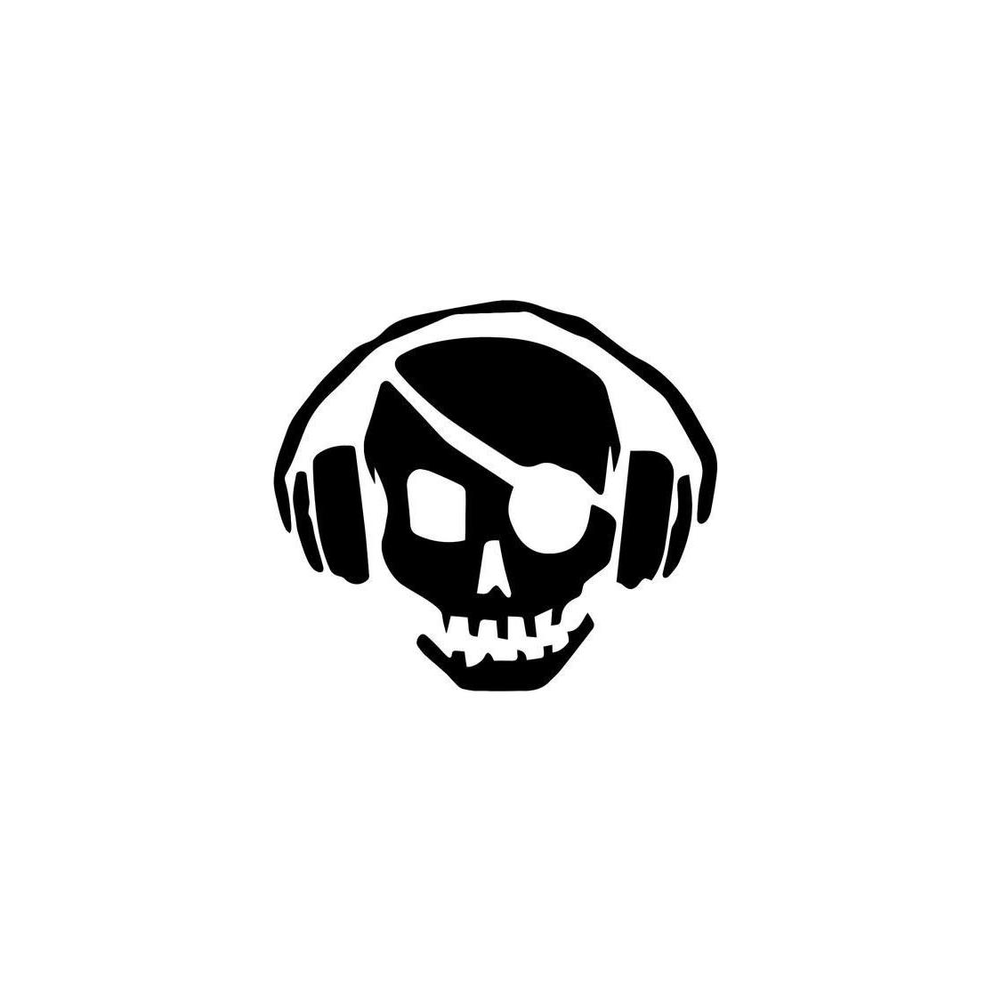 Pirate Headphones Music Home Decor Car Truck Window Decal Sticker Rear Window Car Sticker