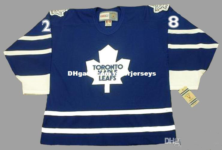 Personalized Custom Toronto Maple Leafs PAUL 28 TIE DOMI 1997 and 2002 CCM Vintage Hockey Jersey