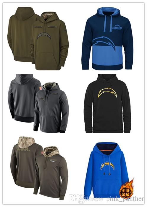 777727a76 2019 San Diego Fleece Chargers Olive Salute To Service KO Performance  Football Hoodie Embroidered Patchwork Print T Shirt Slogan T Shirts From  Dadafa jersey ...