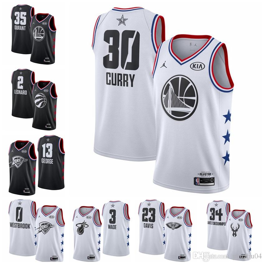 timeless design 6595a 06710 All 2019 star Stephen 30 Curry Jersey Kevin 35 Durants Russell 0 Westbrooks  Kawhi 0 Leonards Giannis 34 Antetokounmpos Dwyane 2 Wades Jersey