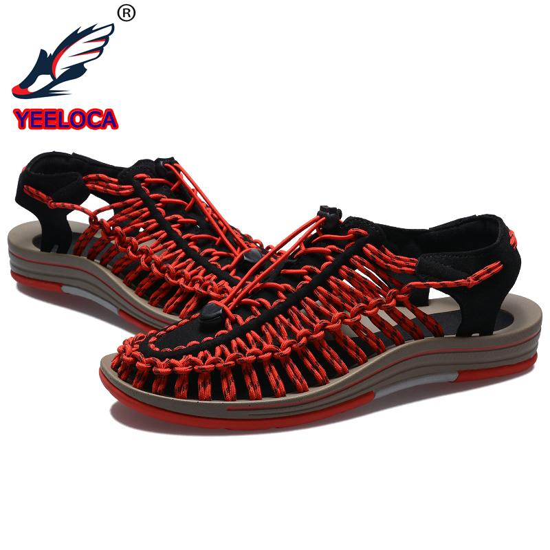5c0bfb100e9 New 2018 Summer Men Sandals Fashion Handmade Weaving Design Breathable  Casual Beach Shoes Unique Brand Sandals For Men Jesus Sandals Black Wedges  From ...