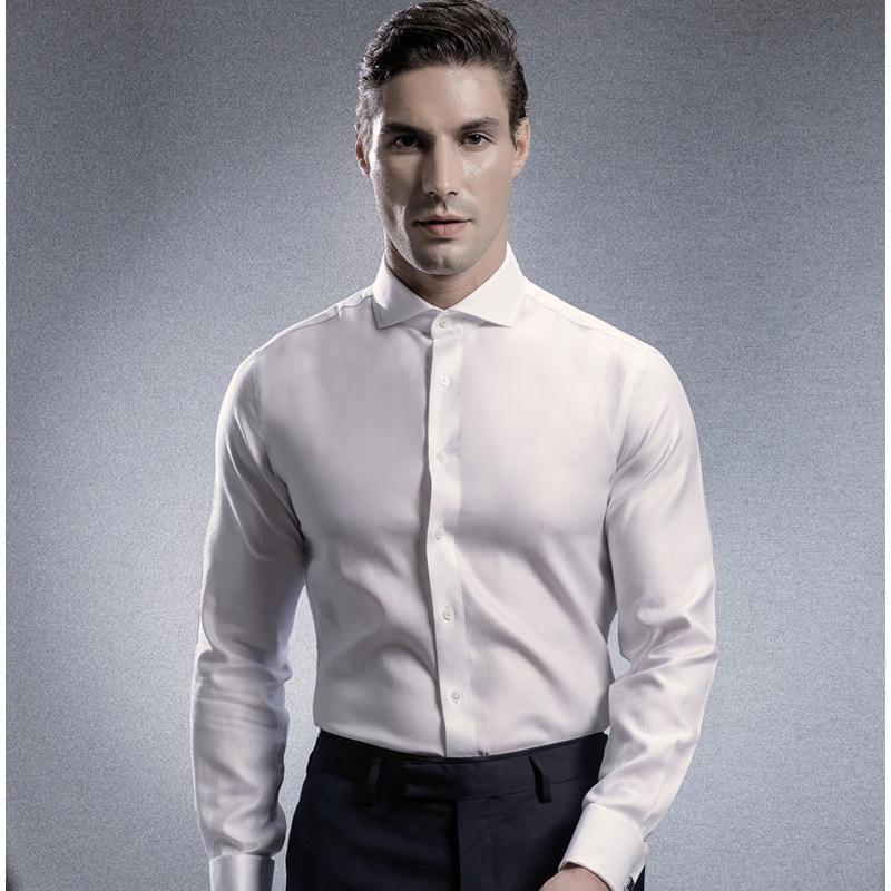 sports shoes ef080 6b4e1 Camicia per uomo da uomo in cotone tinta unita, vestibilità formale,  vestibilità formale, abito da uomo, da uomo, in 100% cotone
