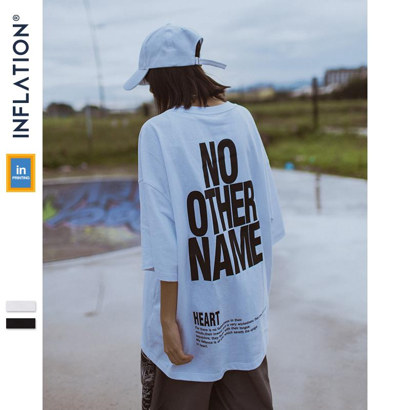 2ff3b3d9 Inflation Men Clothing Oversize Short Sleeve Tshirt Letter Printed Tee  Fashion Streetwear Hip Hop Casual Cotton Tops Tees 91101s C19040201 Retro T  Shirt ...