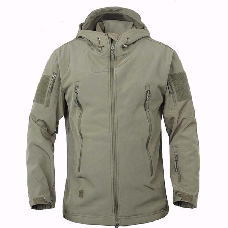 Outdoor Sports Men Upgraded Lurker Shark V5.0 soft shell Tactical Military Male Waterproof Camouflage Fleece Lining Coat Jackets