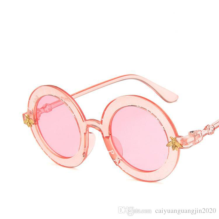 Child 2019 NEW designer Kids Round Frame Sunglasses Children Glasses UV400 Baby Summer Eyeglasses Vintage Cute Girl Eyewear
