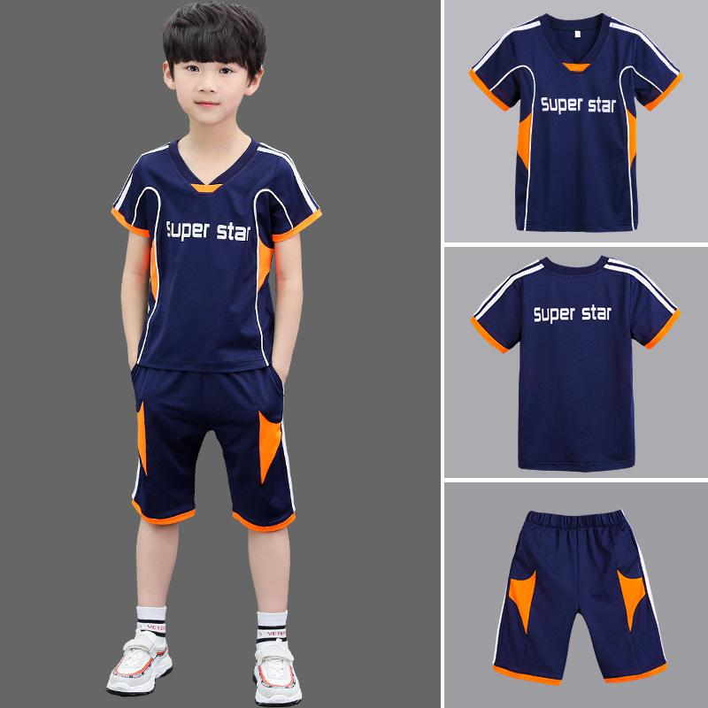 b20530e3e 2019 Children Costume Fitness Running Set Gym Sportswear Short T Shirt  Shorts Kids Tracksuit Sport Suit From Cfsw, $29.15 | DHgate.Com