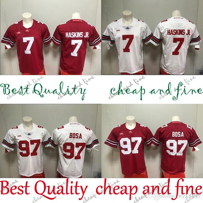 new concept d8dbb 5ae68 Sell 97 Nick Bosa jersey NCAA Ohio State Buckeyes jerseys 7 Dwayne Haskins  Jr American College Football Wear Bosa Haskins Jr 2019 NEW