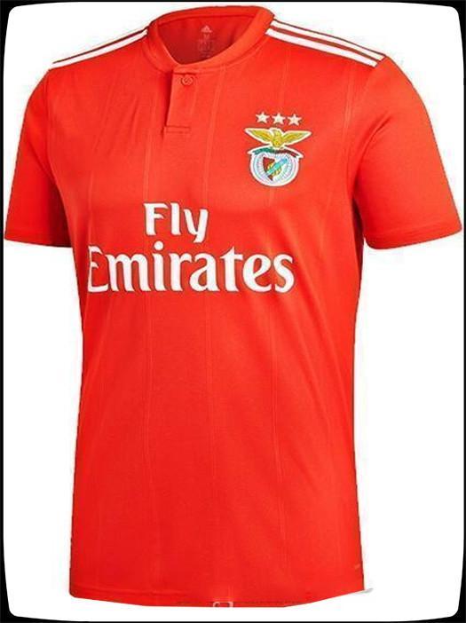finest selection a9f2a 9874a Benfica jersey 10 JONAS 14 SEFEROVIC 19 ELISEU 18 SALVIO 21 PIZZI Very  popular 2018-2019 NEW Mens soccer jerseys