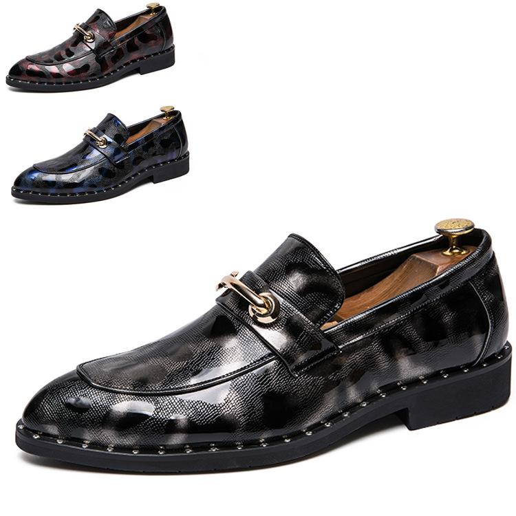 36ab61310 Compre 2019 Marca De Luxo Mens Sapatos De Couro Casual Plana Slip On Moda  Motorista Vestido Mocassim Apontou Toe Sapatos De Casamento Mocassim De  Roomroot, ...