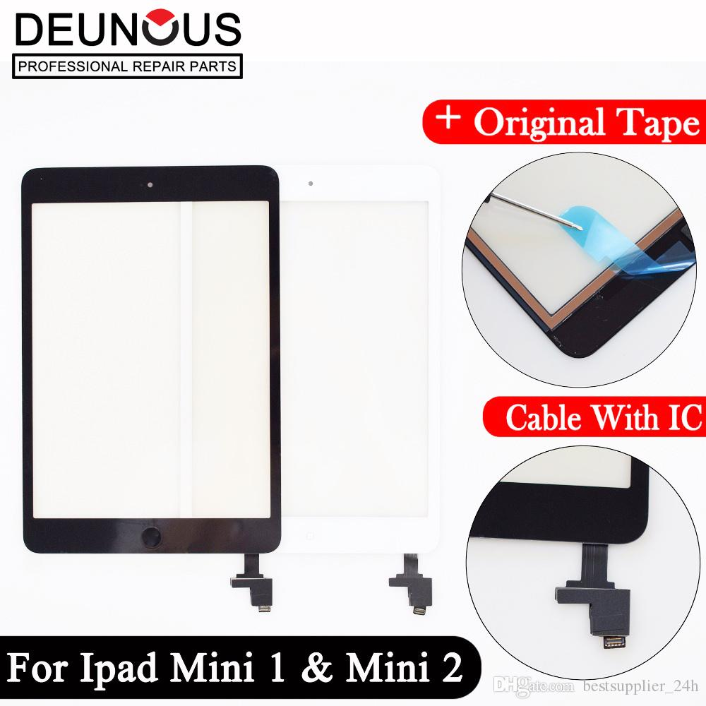 For ipad mini 1 mini 2 mini 3 Touchscreen Touch Glass Screen Panel Digitizer Adhesive Glue Sticker Replacement With IC Conector